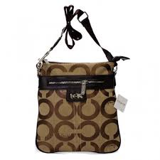Coach Legacy Swingpack In Signature Medium Khaki Crossbody Bags AWL