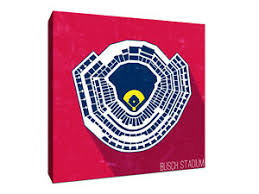 St Louis Cardinals Stadium Seating Chart Details About St Louis Cardinals Busch Stadium Seating Map Gallery Wrapped Canvas