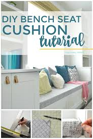 diy bench seat cushion tutorial it s easy to update or upholster a bench seat cushion