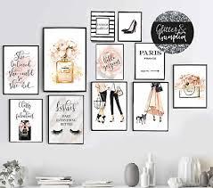 fashion prints blush pink wall art