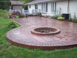 concrete patio with fire pit. Exellent With True Value Fire Pit Beautiful Patio 5 Custom Back Yard Stamping Concrete  Patios Throughout With T