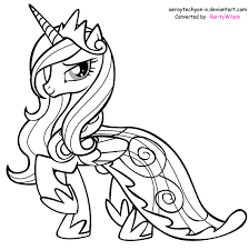 Small Picture mlp printable coloring pages my little pony princess cadence