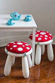 repurposed furniture for kids. Little Ikea Mammut Stool Turned Into A Mushroom For Kids Room Now You Don\u0027t Need An To Do This.any Sturdy Repurposed Will Furniture I