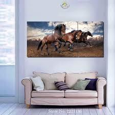 3 4 5 Plattenset Laufende Pferde Hd Gedruckt Malen Home Decoration