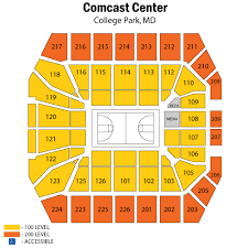 Xfinity Center College Park Tickets Schedule Seating