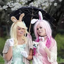 cool bunny makeup design