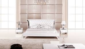 3 Piece Modern Wing Genuine White Leather Bedroom Set - USA ...