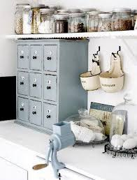 Other accessories in a shabby-chic kitchen .
