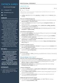 Artist Manager Resume Job Description Key Account Manager Resume Sample By Hiration