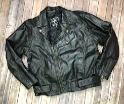vintage barney s leather men s 48 black moto jacket motorcycle asymmetric zip