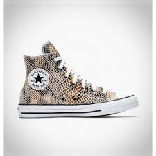 converse chuck taylor all star fashion snake leather high top khaki shoe 557920c 101 mens