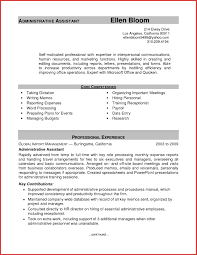 Best Sample Resume For An Administrative Istant Photos >> Good