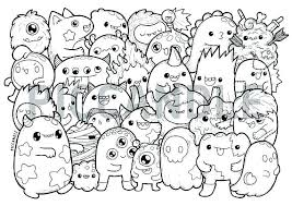 Doodle Coloring Pages Coloring Pages Monsters Doodle Coloring Page