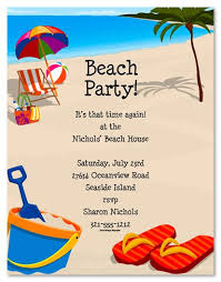Beach Invitation Beach Party Invitation Templates Free In 2019 Beach Party