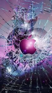 apple logo broken gl iphone 6 wallpaper