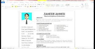 How To Do A Resume On Microsoft Word 2007 Twnctry