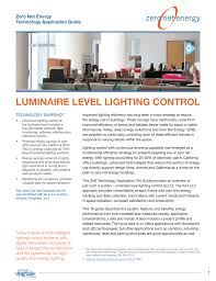 2013 Title 24 Lighting Luminaire Level Lighting Control