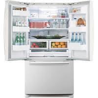white refrigerator french door. samsung rf266aewp white pearl french door refrigerator 26 cu ft. energy star® : split shelves