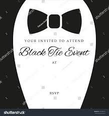 Invitation Templates For Black Tie Event Refrence Black Tie Event