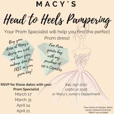 your dress at macy s during our event and have your makeup done for free on your prom day