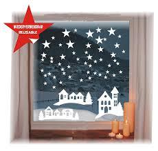Das Label Wiederverwendbare Winterliche Fensterbilder Weiß Sterne In 3 Größen Weihnachten Fensterdeko Konturgetanzt Ohne Transparenten