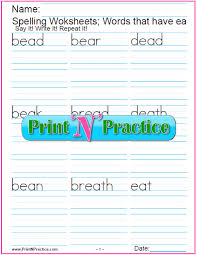 Choose the word that has a particular sound. Ea Words 5 Free Phonics Worksheets