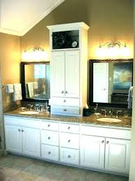 bathroom vanity with linen closet linen tower cabinets bathroom vanity with linen cabinet bathroom vanities with