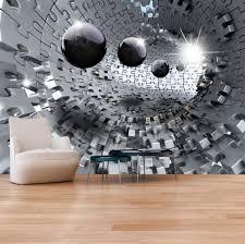 photo wallpaper wall murals non woven 3d modern art optical illusion jigsaw puzzle wall decals bedroom