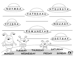 days of the week chart weekdays worksheet 1 worksheets days of the ...