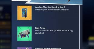 How To Glitch A Vending Machine Cool Vending Machines Are Coming To 'Fortnite Battle Royale' How Will