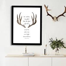Christian Quote Posters Best Of Deer Bible Verse Triangles Print Art Nordic Canvas Posters Modern