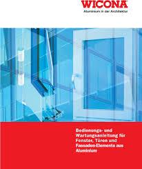 Aluminium In Der Architektur Bedienungs Und Wartungsanleitung Für