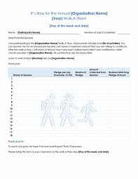 Walk A Thon Form Walk A Thon Fundraiser Pledge Form Templates Tops Tips
