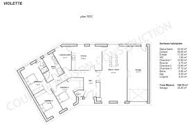 Plan Maison Plain Pied 3 Chambres Charmant Couleur Maison Couleur Maison Constructione Plan De Maison De Plain Pied