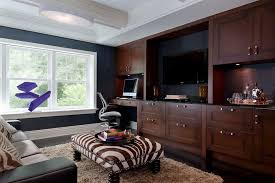 office shag. Gauthiers Rv Center Contemporary Home Office And Built In Media  Coffered Ceiling Dark Blue Walls Office Shag E
