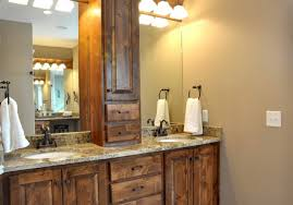 track lighting for bathroom. Simple Track Lighting With Rustic Bathroom Mirror Cabinet Using Sleek Towel Rail For Decorative Ideas W