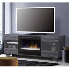 dimplex max 62 inch electric fireplace media console glass embers carbon gds25g5