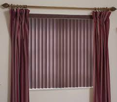 vertical blinds and curtains together pictures. Wonderful And Curtain Design Purple Velvet Grommet Combined With Violet Vertical  Blinds As Well  On And Curtains Together Pictures D
