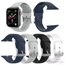 Dây đeo silicon mềm cho đồng hồ thông minh Apple Watch Series 1 2 3 4 42mm