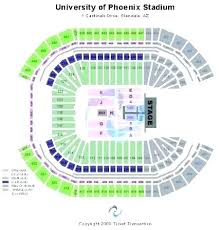 University Of Phoenix Stadium In Glendale Az Seating Chart Phoenix Stadium Seating Artscans Co