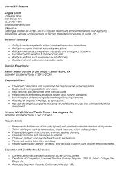 Lpn Resumes Examples Formidable Free Sample Resume Also Of New Grad