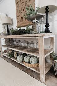 rustic tv console for diy tv stand ideas 14