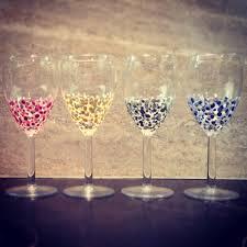 painted wine glasses diy