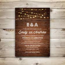 String Of Lights Rustic Wedding Invitation Wedding Invitation Template Printable Wedding Invitation