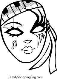 Small Picture Mardi Gras Comedy Tragedy Mask as Mardi Gras Symbol Coloring