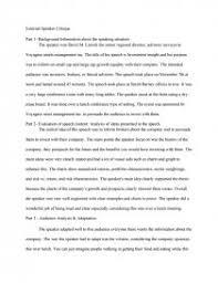 external speaker critique essay zoom