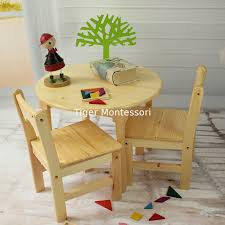 tiger school wooden furniture round table with chairs montessori furniture