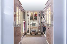 this closet bedroom features a white and glossy wood finished cabinetry set on a carpet flooring