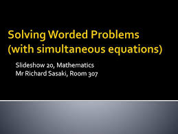 ppt solving worded problems with