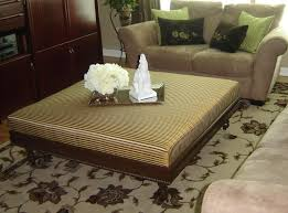 large fabric ottoman coffee table